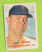 1957 Topps - Karl Olson (#153)   Washington Senators