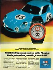 H- Publicité Advertising 1970 La Montre Tissot Sidéral