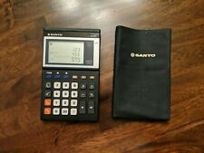 Working Vintage Sanyo CX 480 (1987) Process Calculator with original slip cover