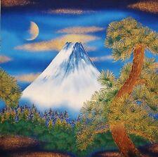 JAPANESE KONA BAY TEXTILE PEALS MT FUJI PINE TREE COTTON QUILTING PNL FABRIC