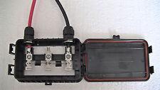 Solar Junction Box, Medium 3 bar, 180 watt, with MC4 plugs and cable