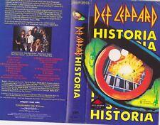 DEF LEPPARD HISTORIA VIDEO PAL VHS A RARE FIND~