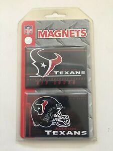 "Houston Texans Team Logo 2 Pack Magnet Set - 3"" x 2"" With Metal Back"