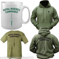 BRITISH NAVY ROYAL MARINES COMMANDO GIFT SET T-SHIRT + HOODIE + MUG ARMY