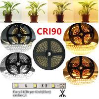 CRI90 SMD5050 5M 150LEDs DC12V 36W 10mm White PCB Flexible Ribbon Strip Lights