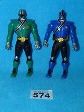 Power Rangers SAMURAI 2 X FLIPHEADS BLUE AND GREEN RANGERS