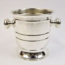 "Silver Wine Cooler 7"" ~ Ice Bucket ~ Bar Wine Cooler~ Decorative Brass Vase Home"