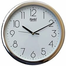 wall clocks ajanta quartz Curved Glass Design Luxury for Home or office