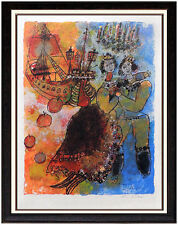 Theo Tobiasse Color Lithograph Large HAND SIGNED Hans Christian Andersen Artwork