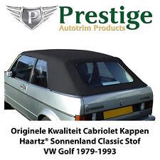 VW Golf 1 Cabriolet Kappen Cabrio Verdecke Zwarte Originele Stof 1979-1993