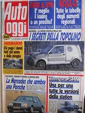 Auto OGGI n°207 1990 Fiat Uno D Turbo Opel Corsa Turbo Diesel Peugeot 205 [Q201]