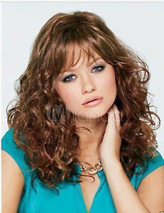Fashion Short Brown Mix Curly Hair Wigs For Women Wig