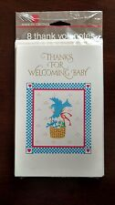 Package of 8 Vintage American Greetings Baby Gift Thank You Cards & Envelopes