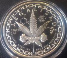 1 oz silver proof. Legalized! Cannabis! BU! Colorado weed! Mintage1000! COA .999
