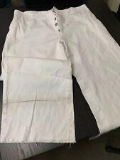 "Civil War Navy White Cotton wide-leg Trousers - Size - 40""W X 33"" Inseam, used"