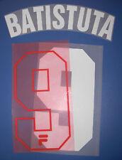 fiorentina kit BATISTUTA bianco rosso flock Nameset maglia calcio fila