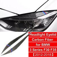 For BMW F30 F35 3 Series Tri Color Carbon Fiber Headlight Eyelids Eye Brow Trim