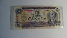 BANK OF CANADA -   OTTAWA 1971 -  DIX TEN 10 DOLLARS- PAPER CURRENCY -  CANADIAN