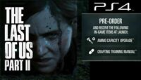 The Last of Us Part 2 Pre-Order DLC ONLY (Sony PlayStation 4, 2020)