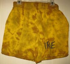 IRIE Gold brown cotton shorts tie-dye medium Reggae Rasta Bob Marley GM