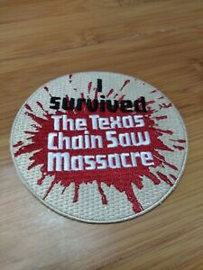 """I Survived The Texas Chain Saw Massacre 3.5"""" Iron-on Embroidered Patch"""