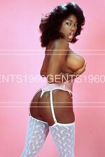 BUSTY BIG BREASTS NUDE EBONY AYES 1980s PINUP 8X10 PHOTO FROM ORIGINAL NEG-4