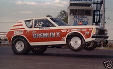 1970s AMC GREMLIN X, Drag Race Car, Refrigerator Magnet, 40 MIL
