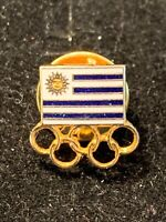 Olympic Pin Uruguay National Olympic Committee OLYMPIC Games Pin Vintage