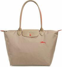 Longchamp Le Pliage Club Large Nylon Tote Shoulder Bag Mink