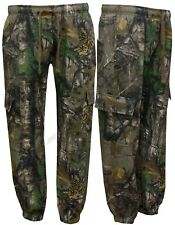 Mens Jungle Fishing/Hunting Camouflage Fleece Jogging Bottoms Trouser S - 5XL