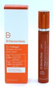 Dr Dennis Gross C + Collagen Brighten & Firm Eye Cream Full Sz 0.5 Oz 15 ml NIB