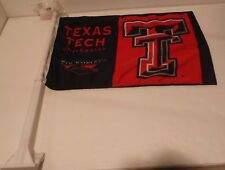 "Texas Tech University Red Raiders Car Flag 11"" x 17"" Window Roll Up Banner Pole"