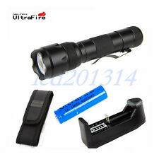 UltraFire WF-502B CREE XM-L T6 LED Bulb Flashlight Torch + 18650 Battery Charger