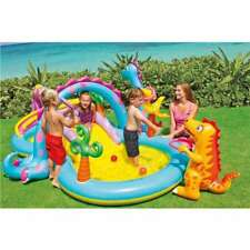 Intex Inflatable Kids Dinoland Play Center Slide Pool & Games 57135Ep | Open Box