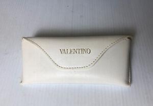 Vintage Valentino Case Sunglasses White Color Leather