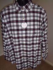 Homme Chaps Flanelle Chemise à carreaux 100% Coton Avec Étiquettes Taille Moyenne A13