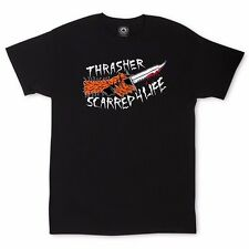 Thrasher Magazine SCARRED 4 LIFE Skateboard Shirt BLACK MEDIUM