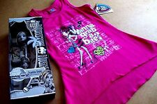 MONSTER HIGH, HIGH/LOW T-SHIRT (6/6X) +++ FRANKIE STEIN & BLACK  & WHITE DOLL