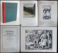Findeisen - Sächsische Heimat 1922 - 5. Jg. - Jahrbuch volkstüml. Kunst - xz