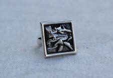 Vintage Sterling Silver Norway Danish Modernist Ring size P