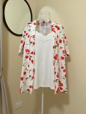 Polyester Floral Short Sleeve Button Down Shirts for Women