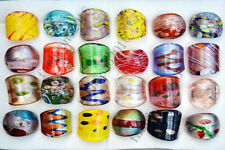 Wholesale Lots 24PCS Charms Summer Style Handmade Glass Lampwork Rings FREE