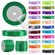25/50Yard Satin Ribbon 3/6/10/15/20/25/38/50mm Craft Bow Wedding Decor 30 Color