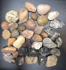 "25 lbs Large (1""-2"") Colorful River Rocks Fish Aquarium Landscaping Pond Garden"