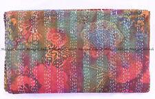 Indian kantha quilt tie-dye fruit handmade bohemian bedspread king size blanket