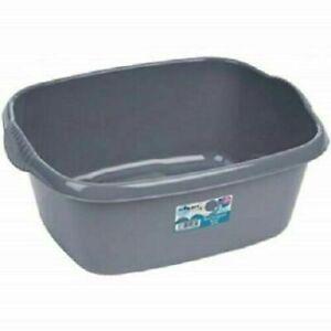 Plastic Wham Rectangular Washing Up Bowl  (Silver/Grey)