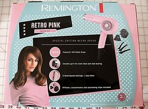 Remington Retro Pink Hair Dryer Kit Limited Edition New In Box