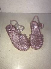 Asda George Pink Glittery Jelly Sandals Size 9 New