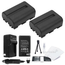 2X NP-FM500H battery + Charger for Sony Alpha DSLR A350 A500 A550 A700 A850 A900