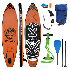 SUP Board KOHALA 320 Stand Up Paddle Orange schwarz Paddel ISUP Komplett Set